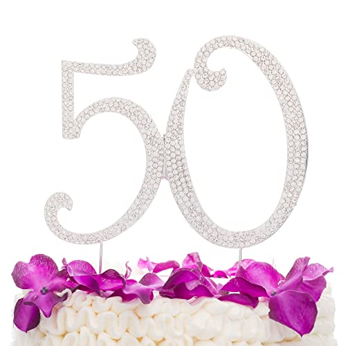 Fabulous 50 Cake Topper: 50 & Fabulous Cake Topper For 50th Birthday Party