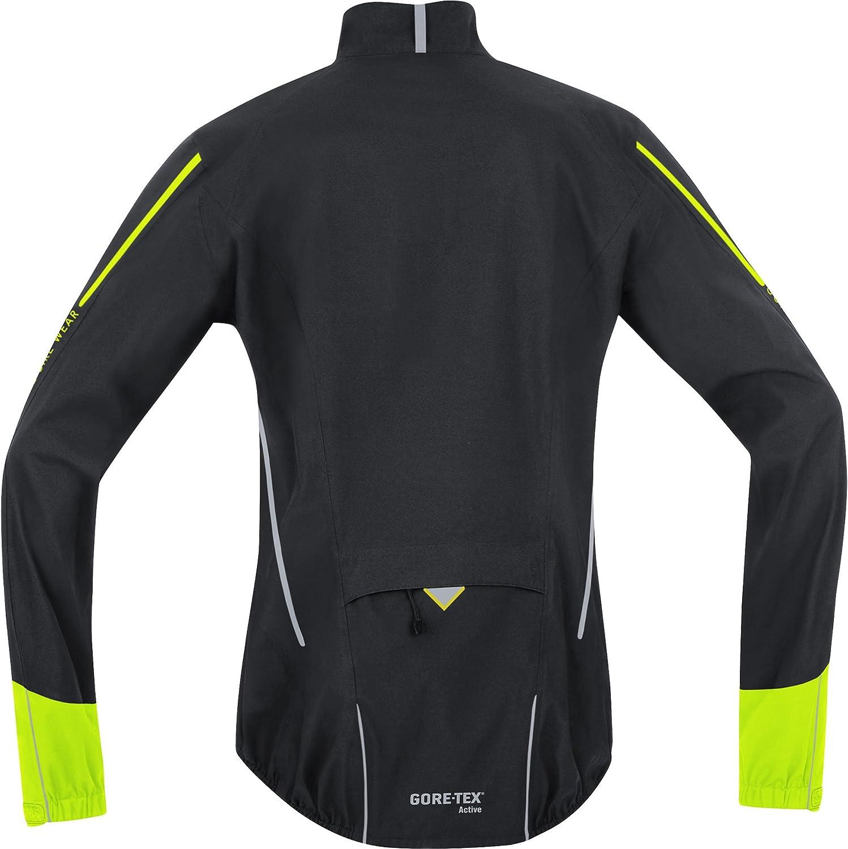 Gore Bike Wear Men´s Windstopper PHANTOM 2.0 3 in 1 Soft Shell Road Cycling Jacket Black - Black/Neon Yellow