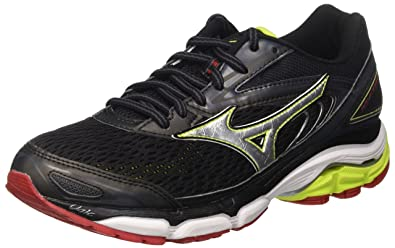 23de3f71e052 Mizuno Wave Inspire, Men's Running, Multicolor (Black/silver/limepunch),