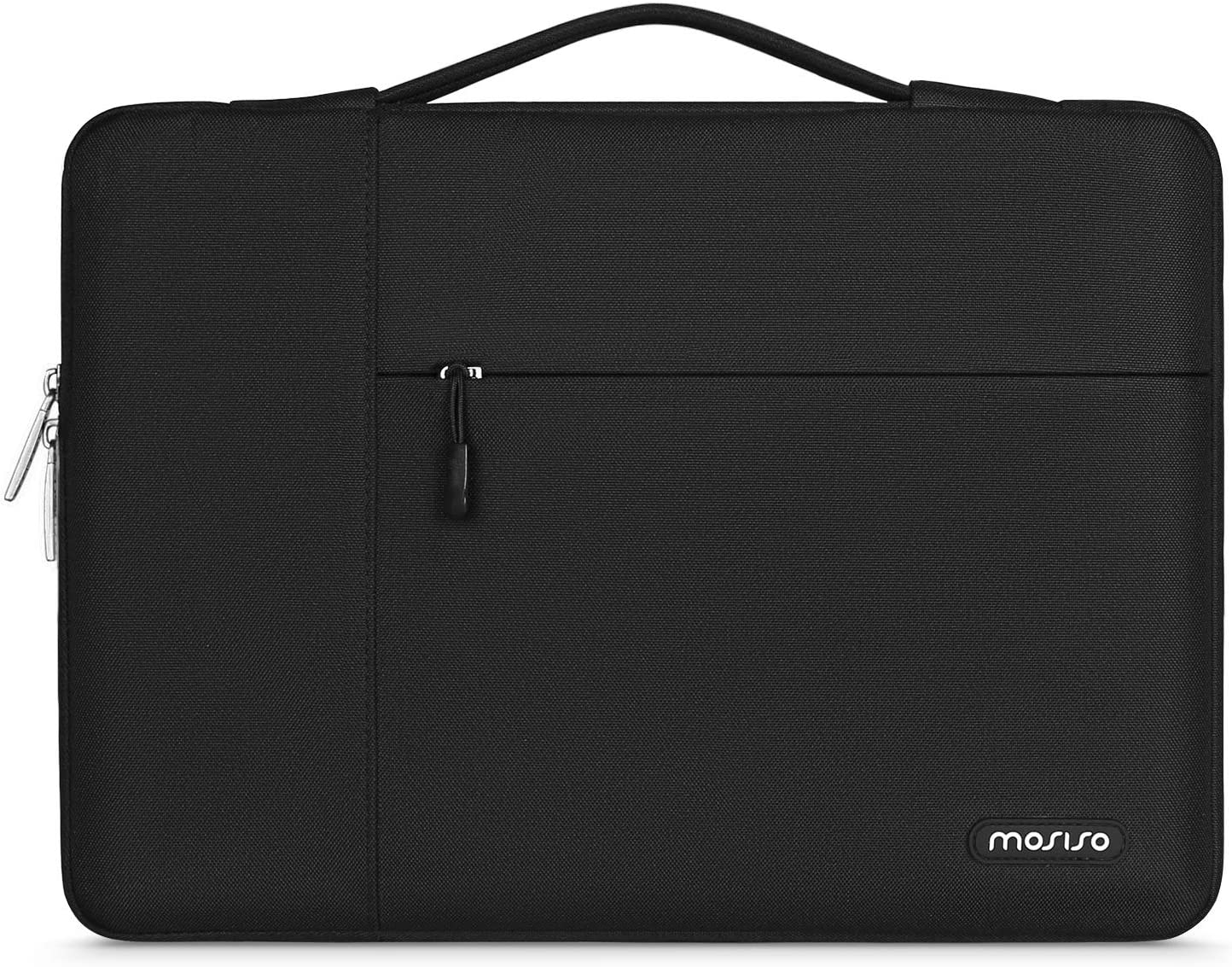 MOSISO Laptop Sleeve Case with Corner Protection Compatible with 13-13.3 inch MacBook Pro, MacBook Air, Surface Laptop 3/2/1 13.5, Lenovo Dell Toshiba HP ASUS Acer, Polyester Briefcase Bag, Black