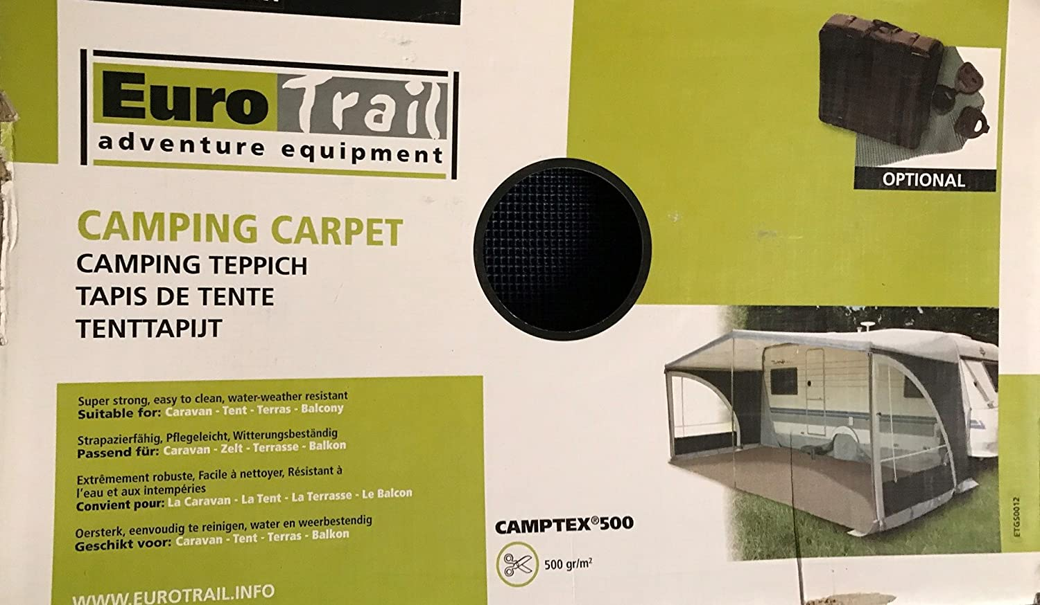 Eurotrail Camptex Tenttapijt.Eurotrail Tent Carpet For Awning And Awning Amazon Co Uk