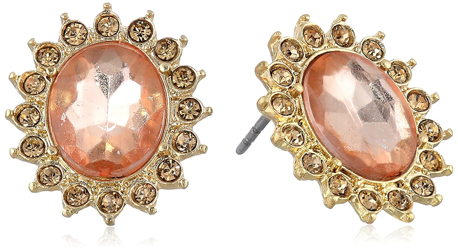 1928 Jewelry Basic Classics Faceted Button Stud Earrings