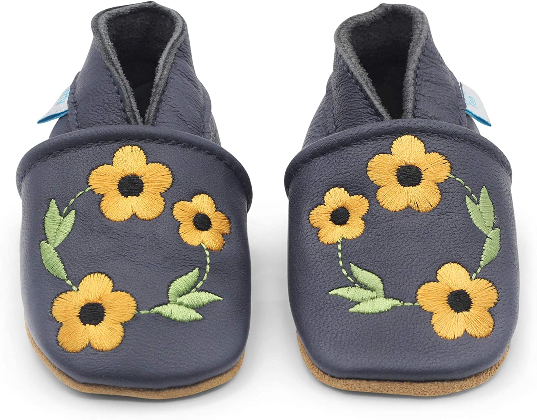 Blumenmotive f/ür M/ädchen. Dotty Fish Weiche Baby und Kleinkind Lederschuhe 0-6 Monate bis 3-4 Jahre