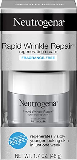 Neutrogena Rapid Wrinkle Repair, Regenerating Cream, 1.7 Oz