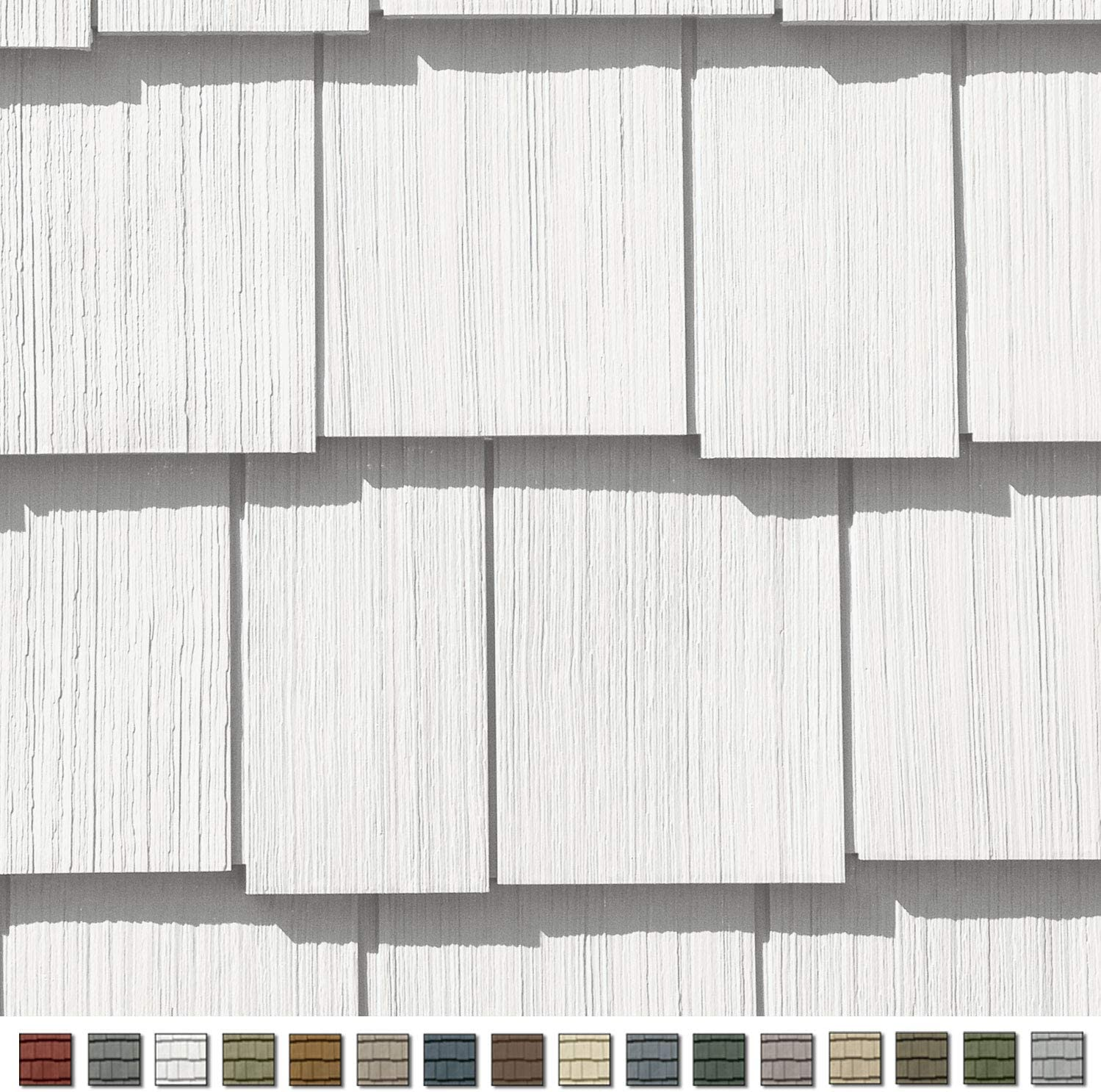 Cedar Impressions Double 7in. Staggered Perfection Shingle Siding (1/2 Square) Colonial White