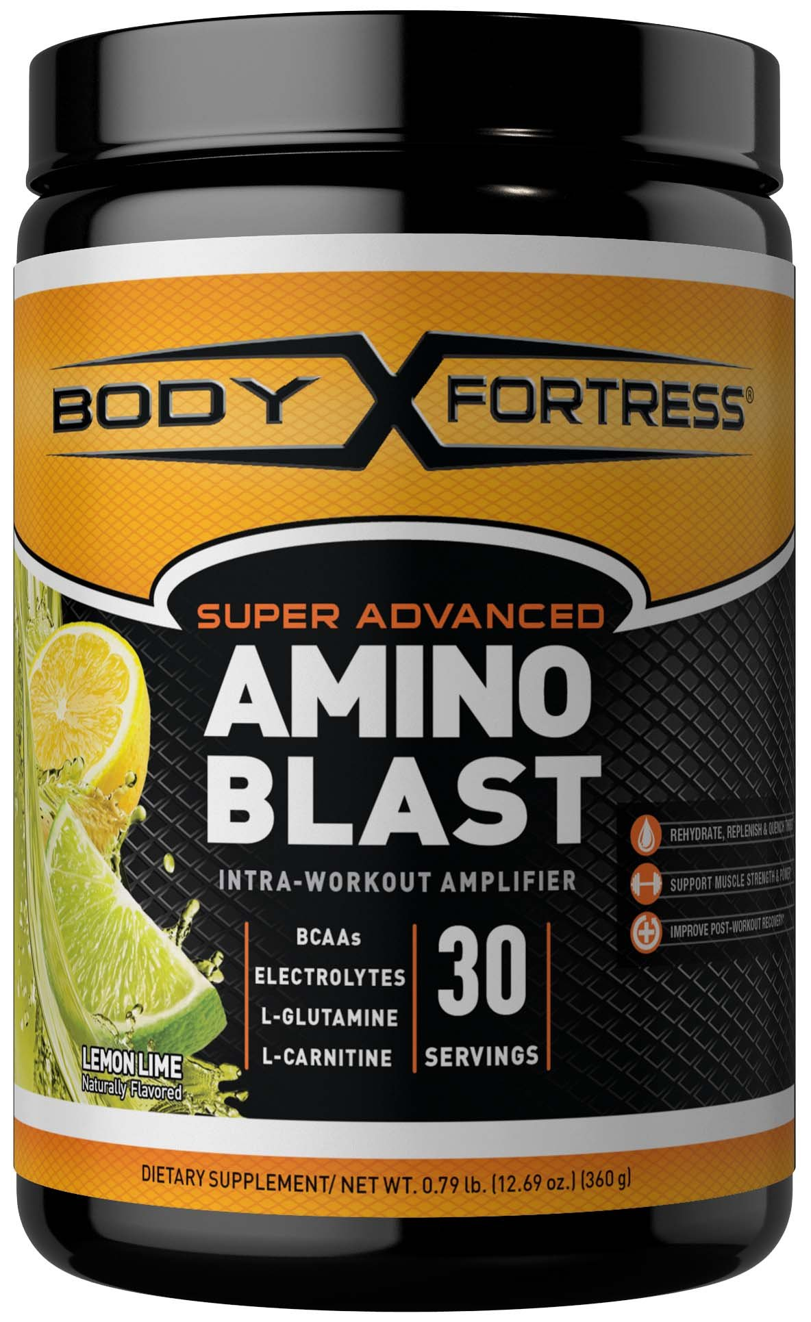 Body Fortress Super Advanced Amino Blast, Lemon Lime, 360 Grams