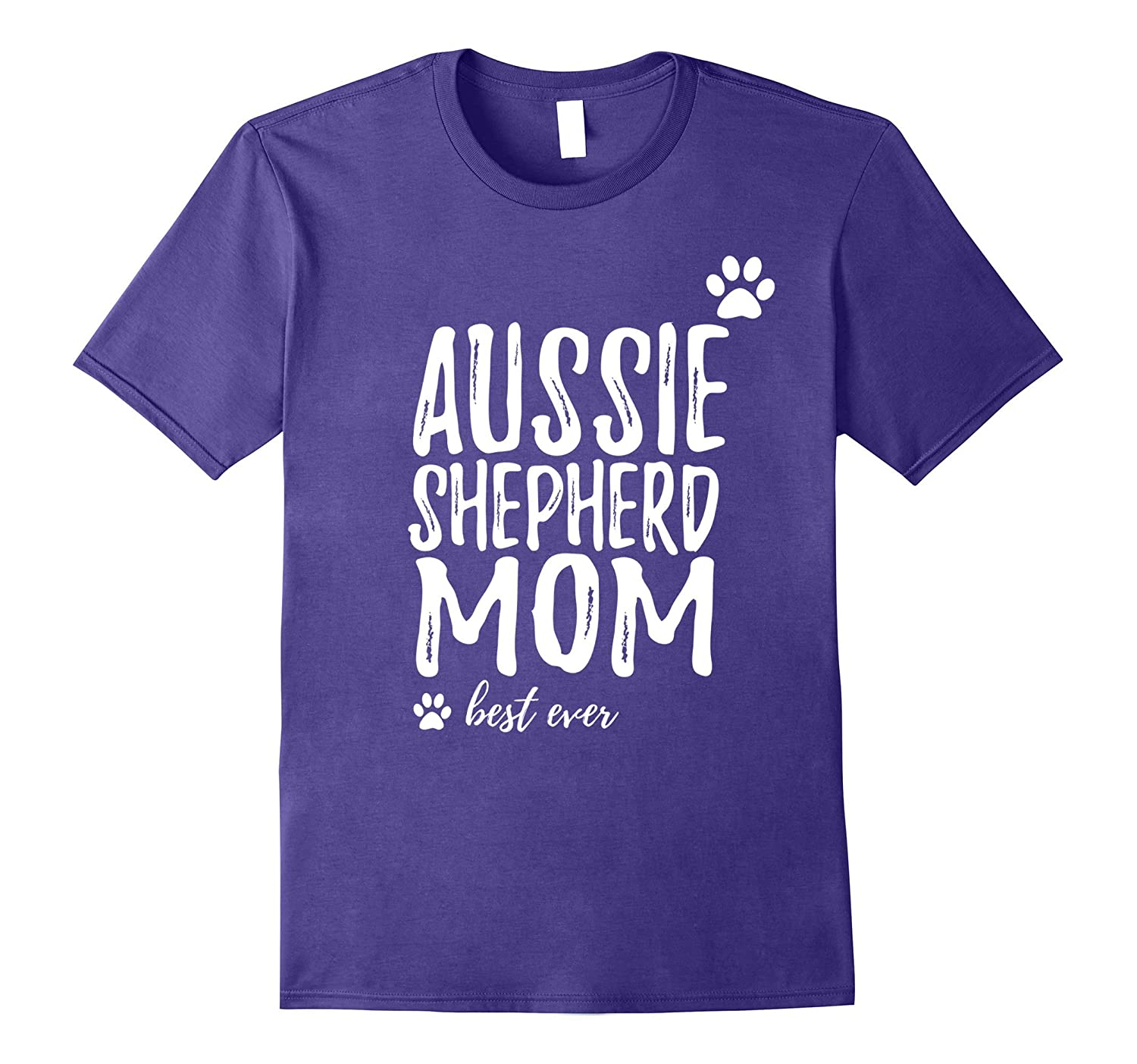 Aussie Shepherd Mom T-Shirt Australian Shepherd Dog Gift-Art