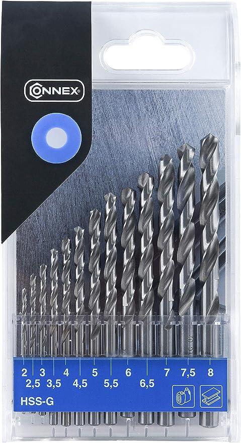 Connex COX972128 - Juego de brocas (tamaño: 2-8mm, pack de 13 ...