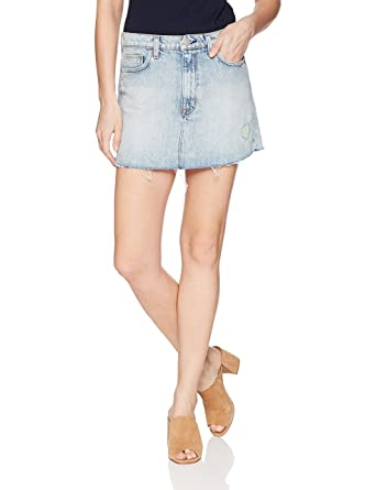 20f7a5eda Hudson Jeans Women's Vivid Denim Mini Skirt at Amazon Women's Clothing  store: