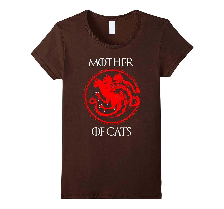 Womens Cat Lovers Shirt Mother-Teeae