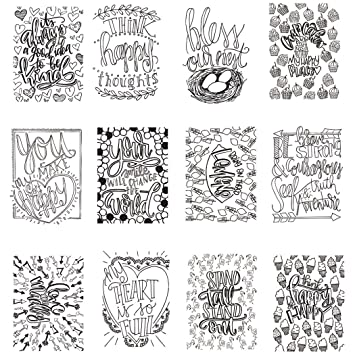 Amazon.com: Happy Thoughts Mini Coloring Book