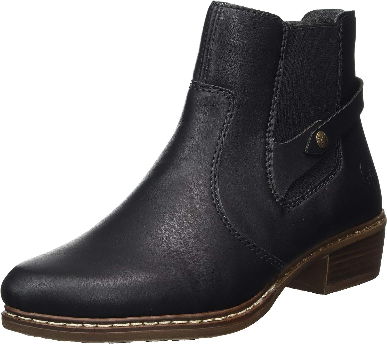 2020 Stiefel Rieker Y0884 00 Schwarz Stiefel High