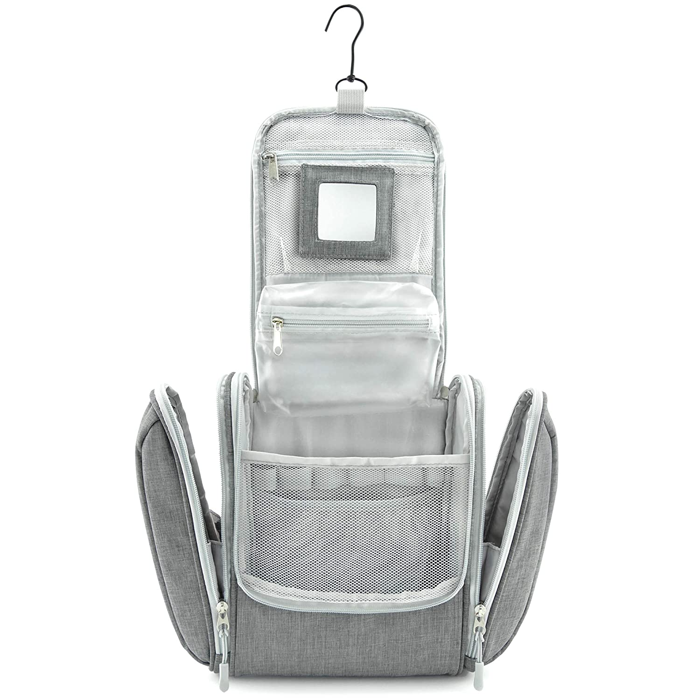 Sac Rangement Cosm/étique Trousse de Voyage Imperm/éable Noir UKEER Trousse de Toilette pour Femmes et Hommes Kit de Voyage pour l/'Avion Bagages /à Main