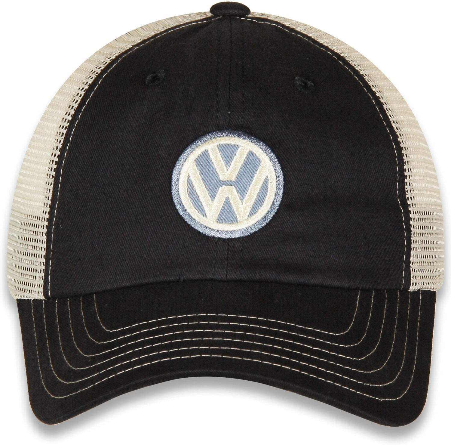 CFS Volkswagon VW Twill and Mesh Unstructured Hat Blue//Khaki