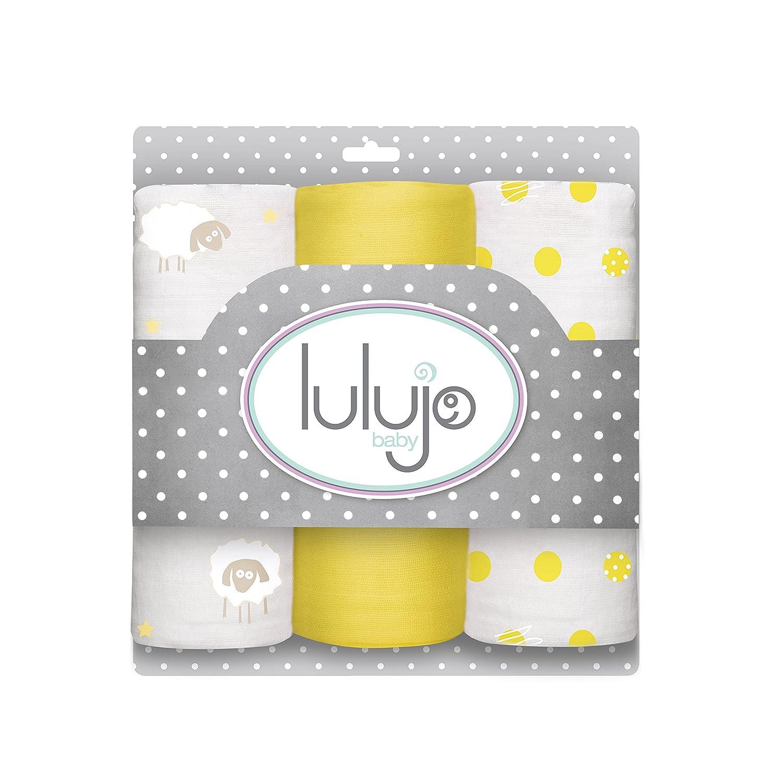 Lulujo Mini Muslin Cotton Cloths, Sunshine Yellow, One Size LJ204