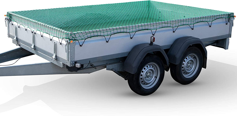 Anhängernetz engmaschig Transportnetz Abdecknetz 3 x 2 m Ladungssicherung