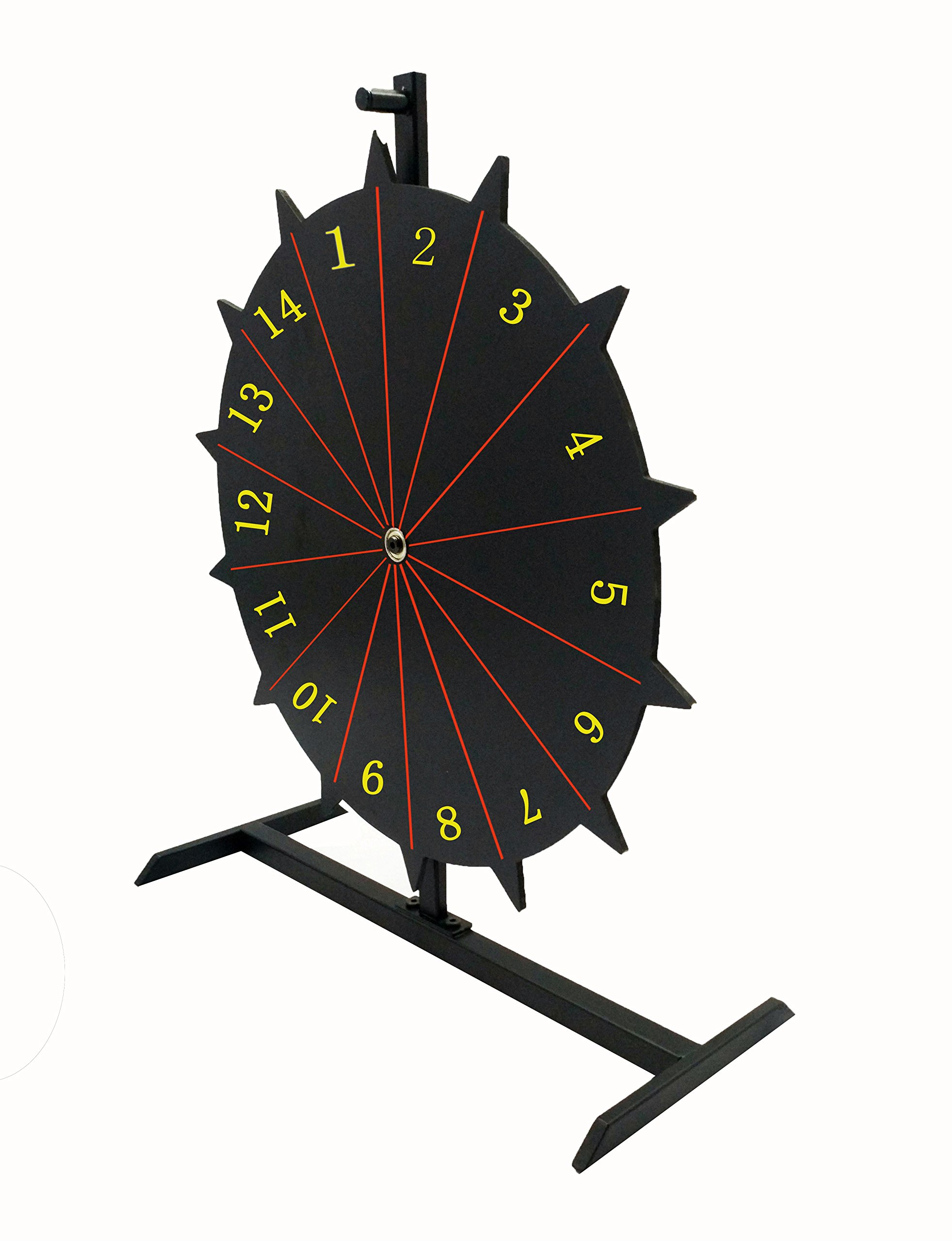 FixtureDisplays 18'' Write-on Prize Wheel 14 Slots Countertop Luckydraw Spinner - Black 119553