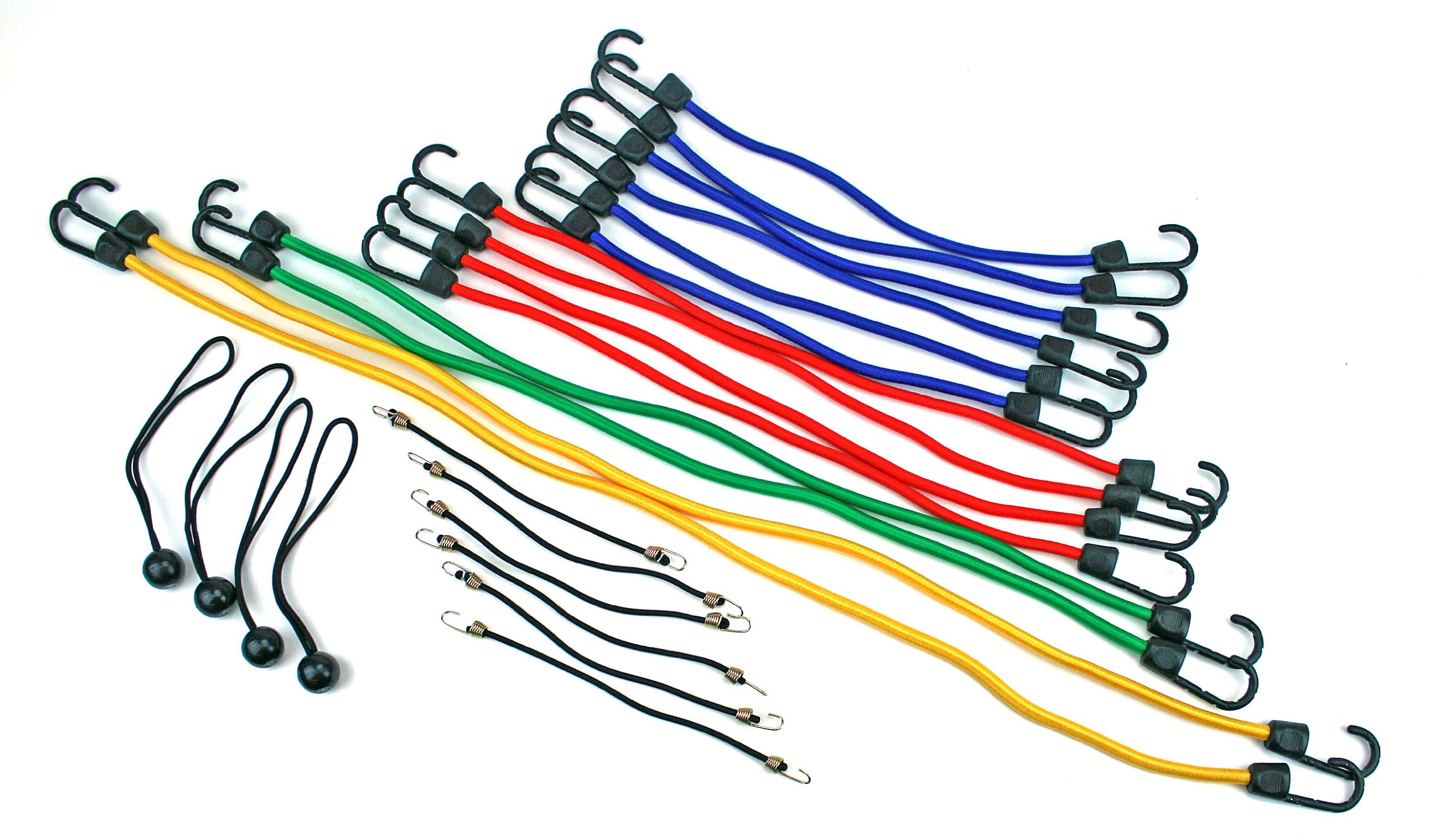 Highland 9008400 Bungee Cord Assortment Jar and Canopy Ties (24-Piece Set)