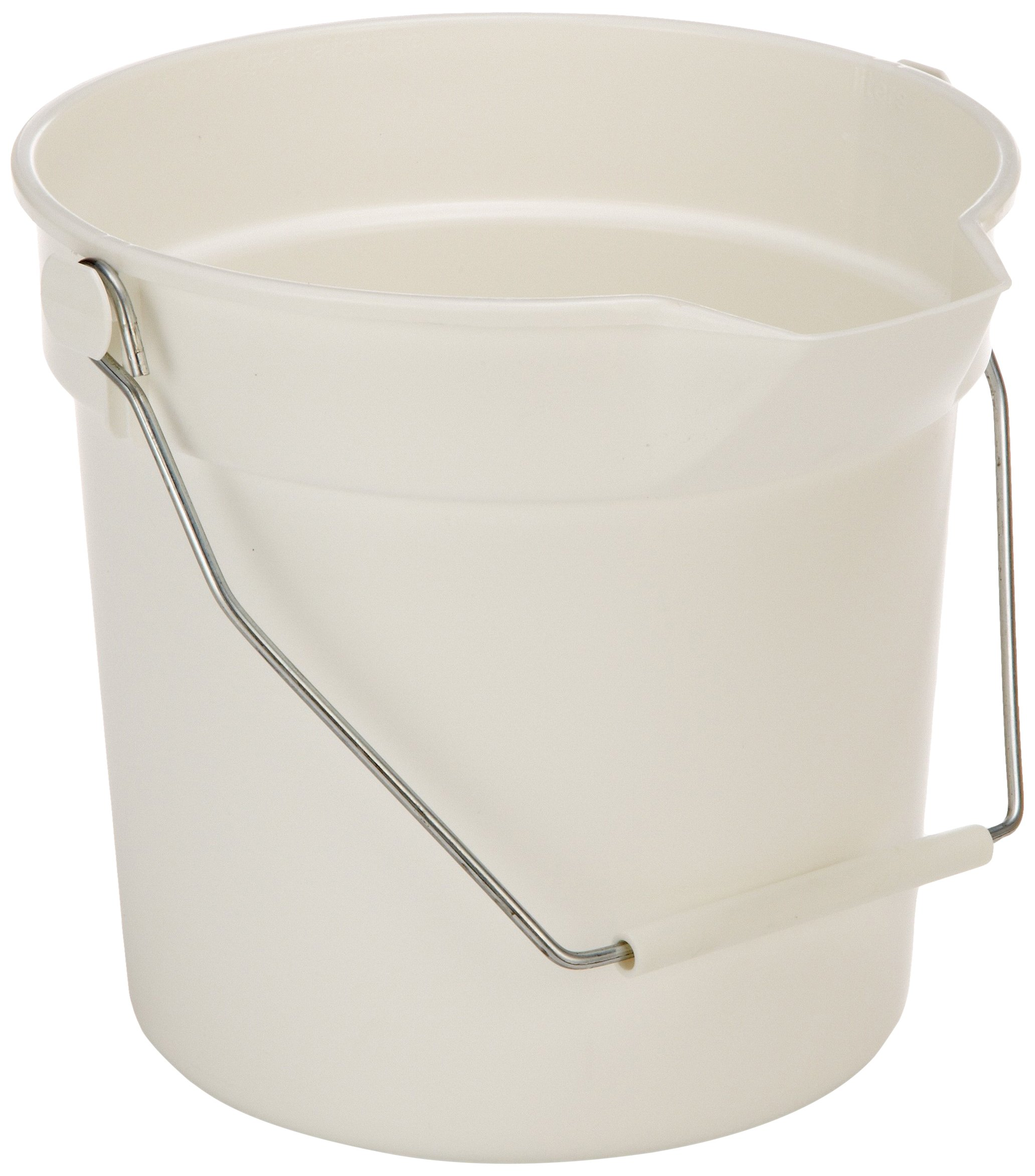 Impact 5510W High Density Polypropylene Deluxe Heavy-Duty Bucket, 10 qt Capacity, 10-1/4'' Length x 10-5/8'' Height, White (Case of 12)