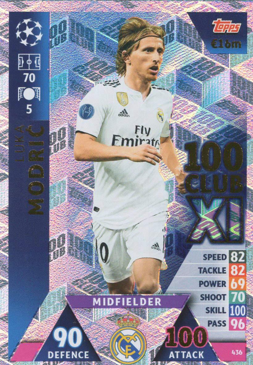 MATCH ATTAX CHAMPIONS LEAGUE 18//19 EDINSON CAVANI 100 CLUB TRADING CARD PARIS ST GERMAIN 18//19