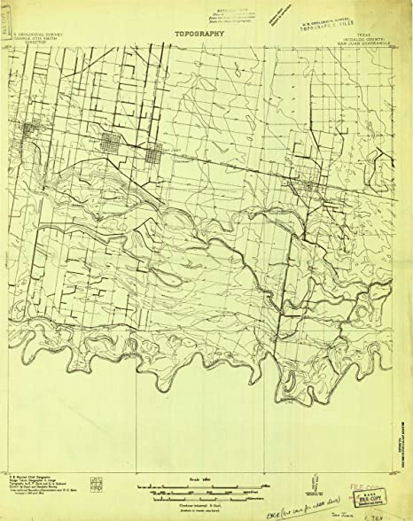 YellowMaps San Juan TX topo map, 1:48000 Scale, 15 X 15 Minute