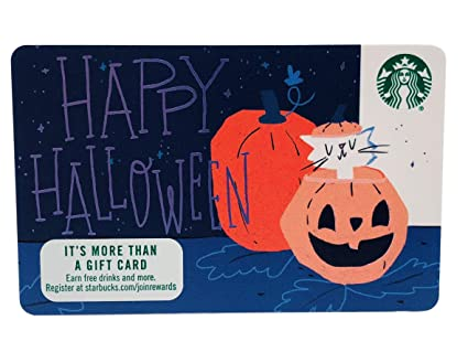 Starbucks Gift Card 2018 Happy Halloween Recycled Paper Collectible No Value