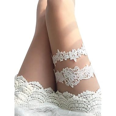 YuRongsxt Flower Leaf Style Garter Set Wedding Garter Set Bridal Garter G08