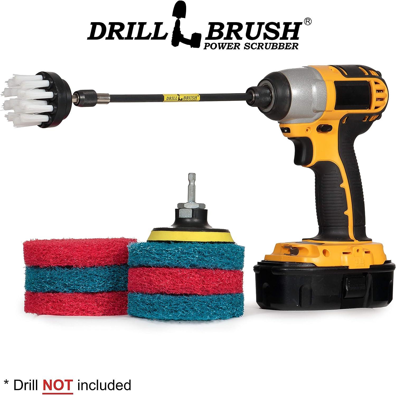Drill Brush - Drill Scrubber Attachment - Scrub Brush - Scouring Pads - Kitchen - Stove - Oven Rack - Kitchen Sink - Bathroom - Tub - Bath Mat - Bathroom Sink - Shower Cleaner - Vinyl Flooring