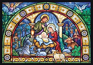 Vermont Christmas Company Stained Glass Holy Night Advent Calendar