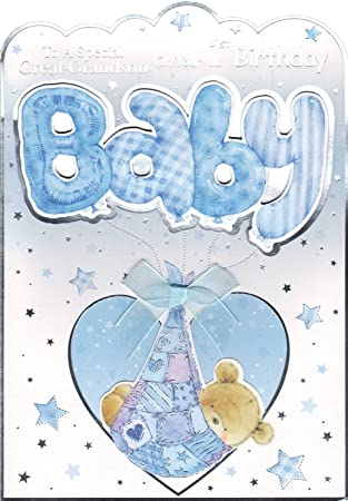 Great Grandson 1st Birthday Card To A Special Great Grandson On