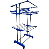 VIMART Lifetime Use Rust Proof Strong Nd Rigid Heavy Double Poll Stainless Steel Cloth Dryer Stand{MINI JUMBO} VIMART Premium Quality Product