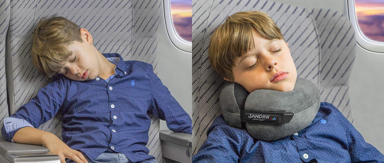 SANDINI TravelFix/® Kids Size Coussin Voyage Premium//Oreiller Cou avec Fonction de Soutien Ergonomique Sac de Transport avec Clip de Fixation
