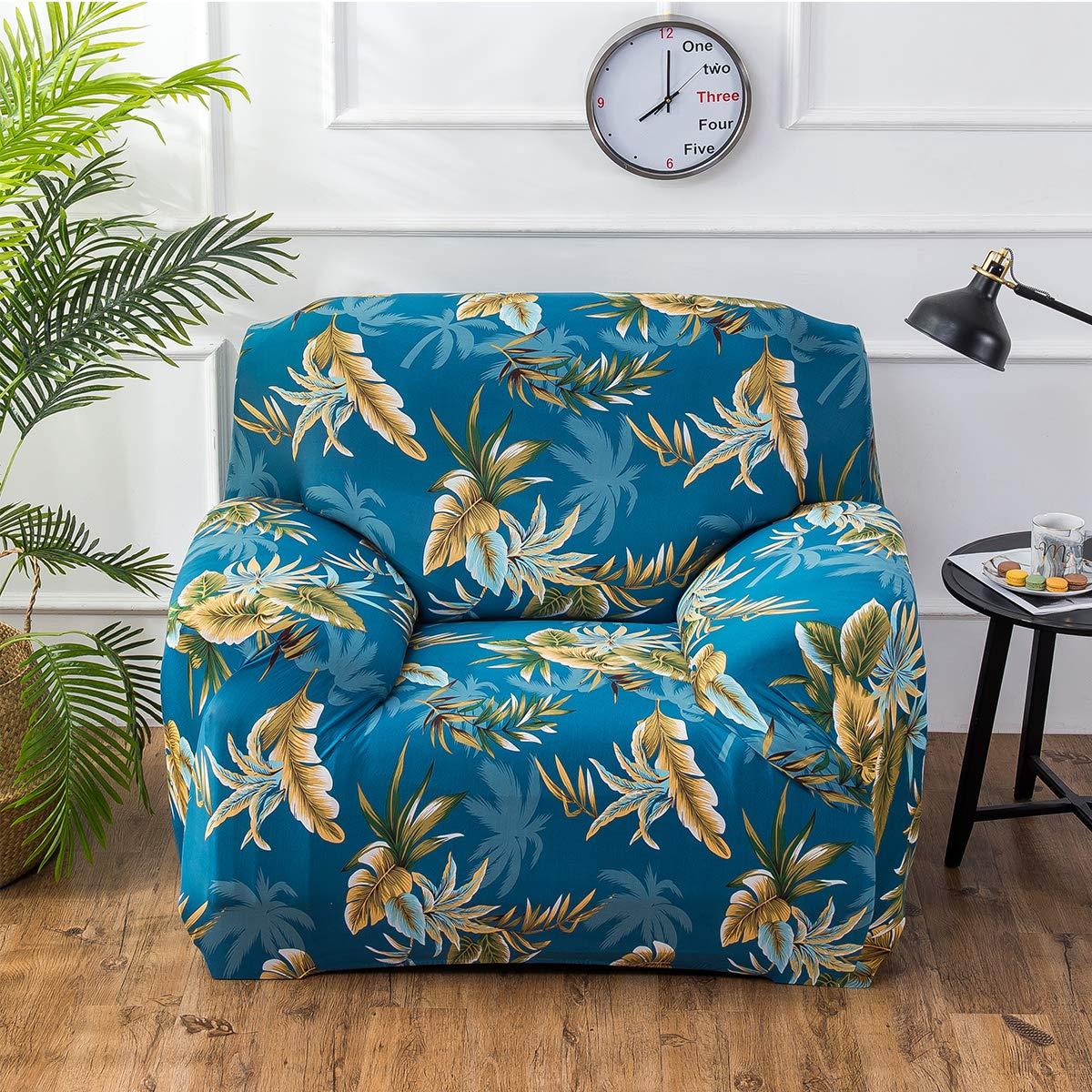 Fashion/·LIFE Housse de Canap/é 1 Place Fauteuil Couvre Sofa Fauteuil en Polyester Sofa Housse Couvertures et Protecteur de Sofa Extensible Elastique Doux Meubles,Bleu Clair