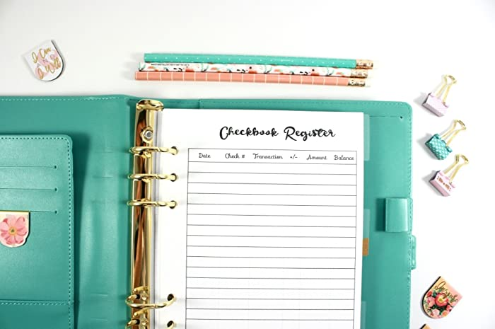 amazon com a5 planner checkbook register filofax a5 planner