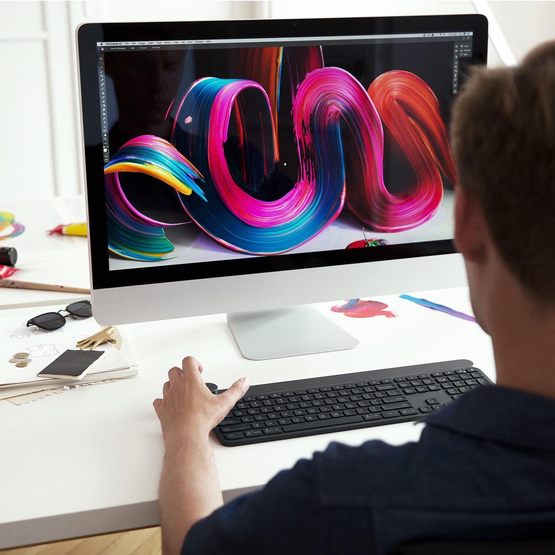 Logitech Craft - Teclado inalámbrico para Windows, Mac, con Disco selector Creativo Que también contribuye a la productividad - AZERTY Francés: Amazon.es: ...