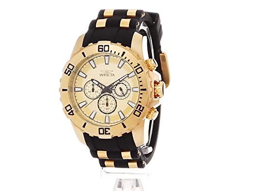 Amazon.com: Invicta Mens Pro Diver Quartz Stainless Steel and Silicone Casual Watch, Color:Two Tone (Model: 22558): Invicta: Watches