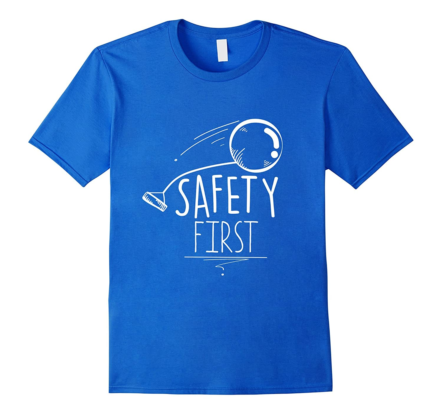 Safety First T Shirt Funny Hammer Throw Accident Design
