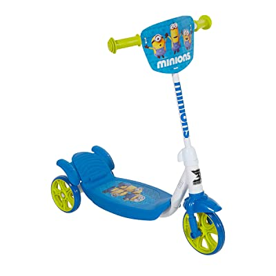 "Minions 8004-06CY 3-Wheeled Scooter, 6"", Blue/White/Yellow : Sports & Outdoors"