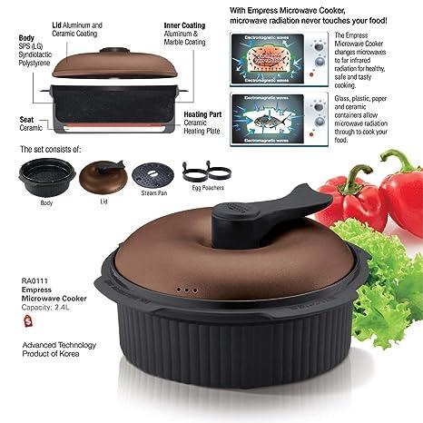 Amazon.com: Cerámica Microondas Cocina Rice Steamer asado ...