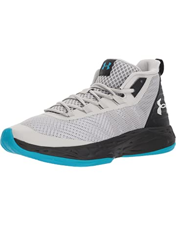 55f692e619ac Under Armour Men s Jet Mid Basketball Shoe Black Steel White