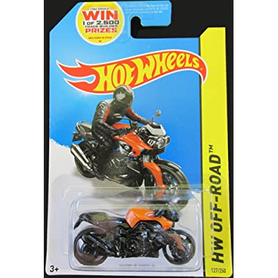 HOT WHEELS 2014 RELEASE BLACK AND ORANGE BMW K 1300 R MOTORCYCLE, HOT WHEELS BMW MOTORCYCLE DIE-CAST: Toys & Games