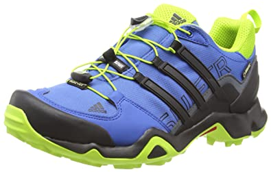 adidas Mens Terrex Swift R GTX Low Rise Hiking Shoes Blue EQT Blue