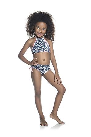 2bdf1be4fe Amazon.com  OndadeMar Girls Aluvia High Neck Bikini Set  Clothing