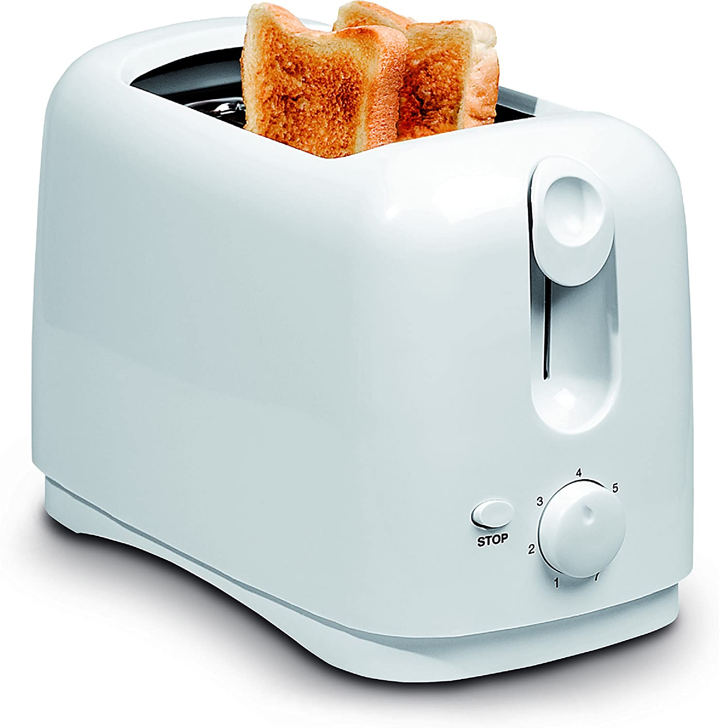 Uniware 8711WH Two Slice Wide Slots Toaster,750 Watts,Cool Touch Exterior,White