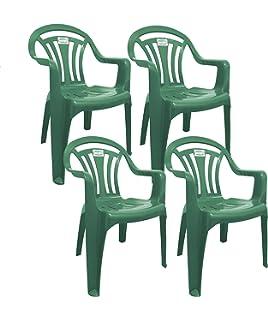 0fe22e73bec8 CrazyGadget Plastic Garden Low Back Chair Stackable Patio Outdoor ...