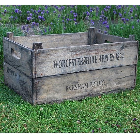 Rústica de madera Apple caja de fruta del cajón: Amazon.es: Bricolaje y herramientas