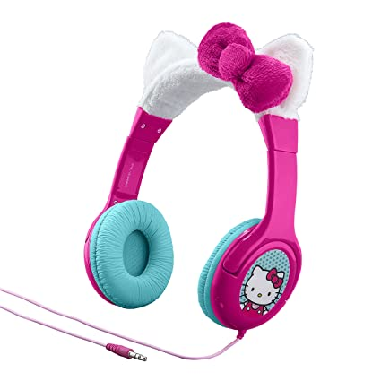 o Kitty Kid Friendly Headphones with Built in Volume Limiting Feature on