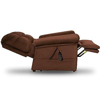 Astonishing Perfect Sleep Chair Lift Chair Medical Recliner Duralux Ii Microfiber Chocolate Brown Andrewgaddart Wooden Chair Designs For Living Room Andrewgaddartcom