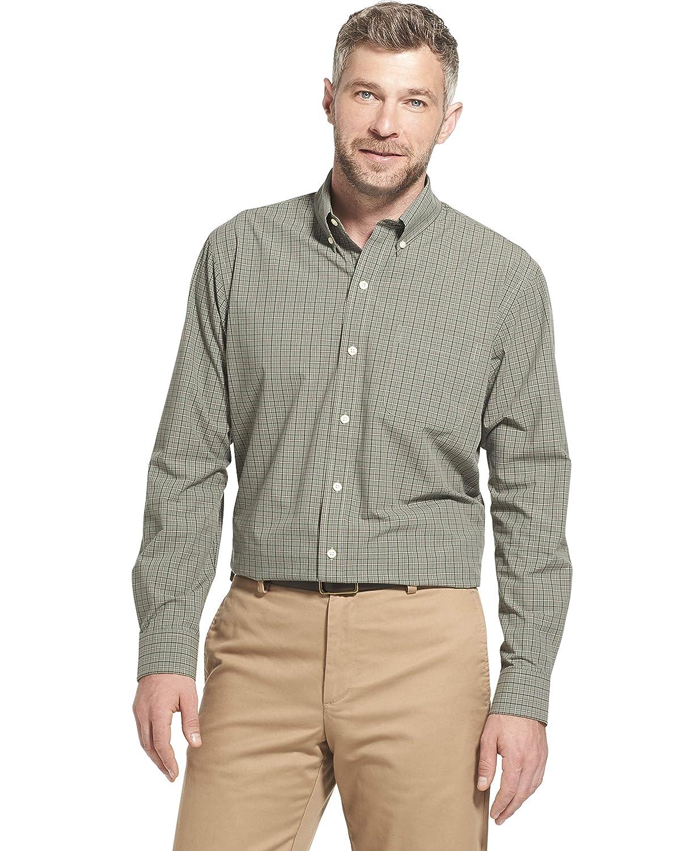 Arrow 1851 Mens Hamilton Poplins Long Sleeve Button Down Plaid Shirt