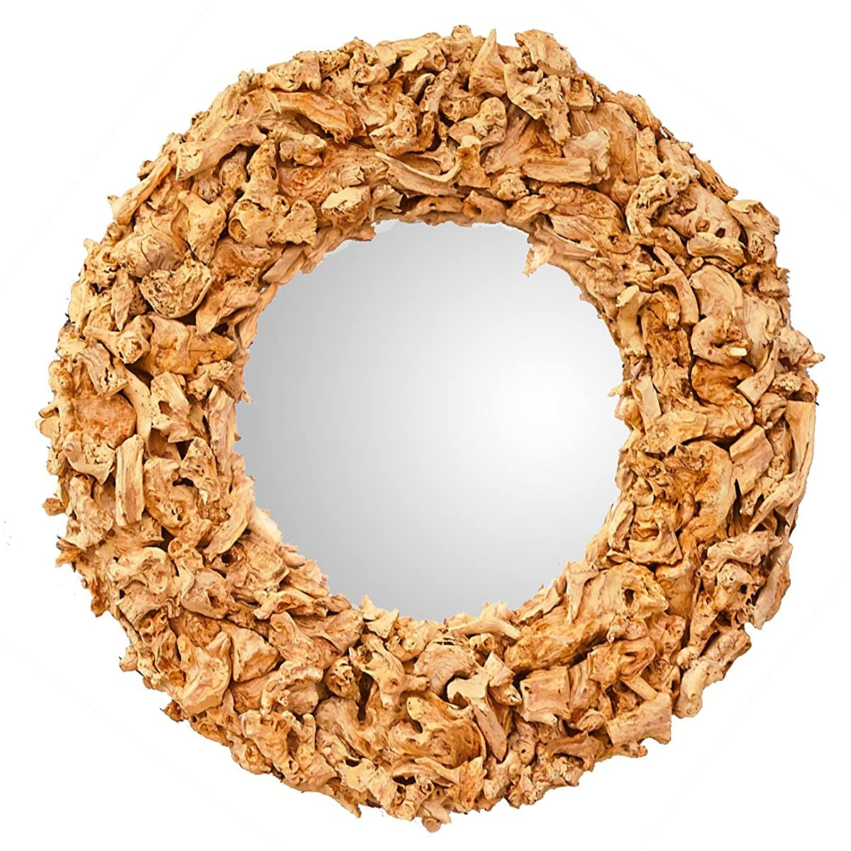 "Round Driftwood Mirror 30"" by OTHENTIQUE 